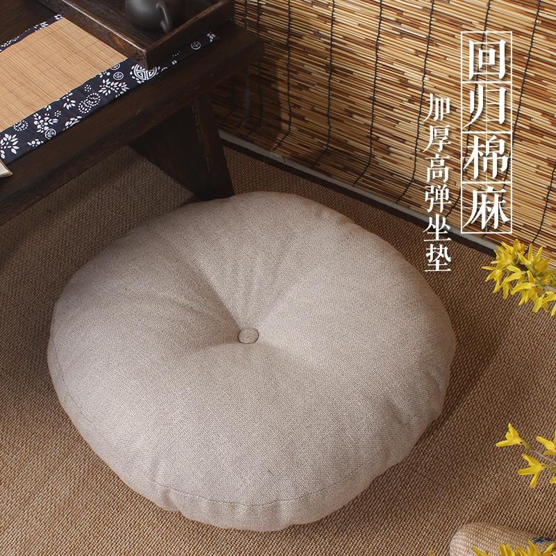 Tatami futon coussin épaississement cercle tissu fenêtre tapis de sol tapis de méditation japonais style méditants pad - 3