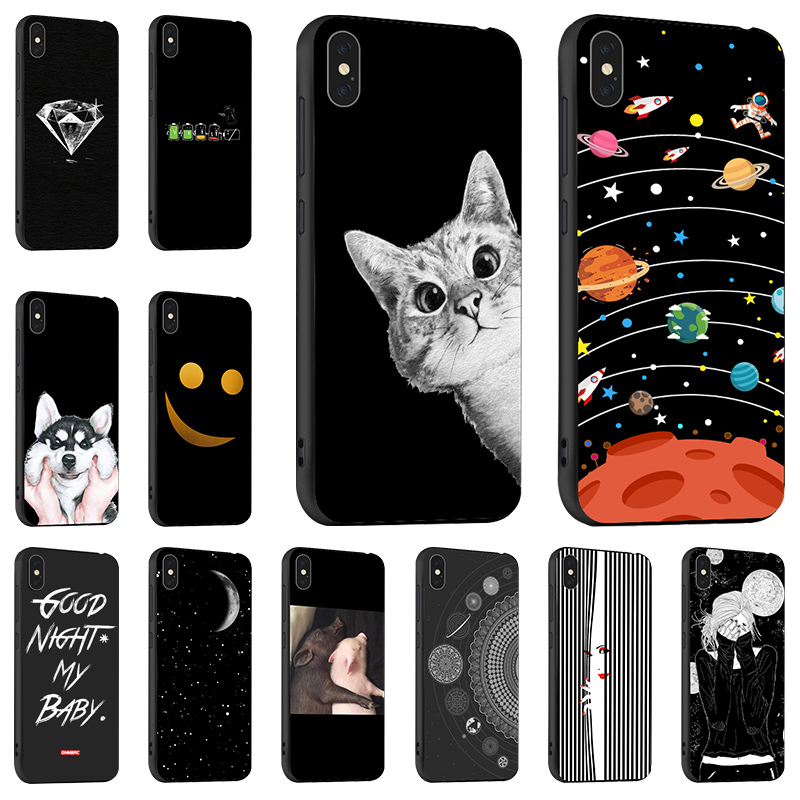 Ojeleye Fashion Black Case For iPhone 6 6S Cover Silicon Soft TPU 7 8 Plus