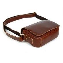 Tiding Vintage Women Genuine Leather Messenger Bag Small Brown Cross body Bag Unisex Shoulder Bag Flap Cover 20196