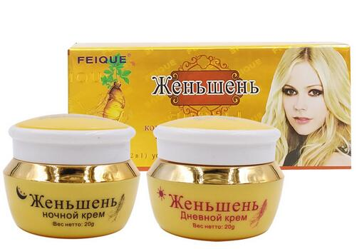Ginseng Freckle Remover Whitening Moisturizing Day Cream And Night Cream 20g *2 /1set