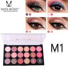 MISS ROSE Eeyeshadow tray 18 color pearl matte eye shadow professional make-up eyeshadow