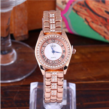 New Fashion Casual Waterproof Diamond-studded Steel Belt Womens Quartz Watch Bracelet Diamond Hook Buckle