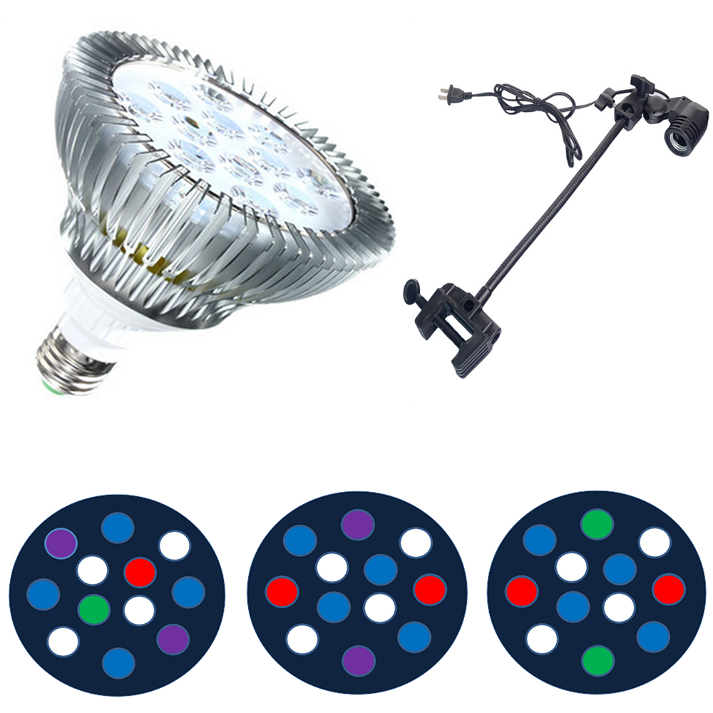 36W Full Spectrum LED Aquarium Lights E27 LED Coral Reef Lighting PAR38 LED Aquarium Plant Grow