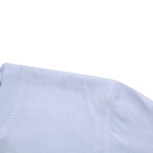 Image 5 - Футболка мужская летняя с коротким рукавом, однотонная хлопковая тенниска из спандекса, Стандартный крой, в простом стиле, 5 шт./лот