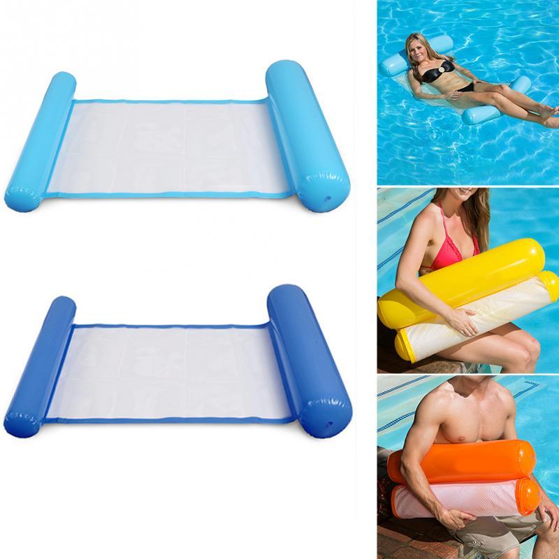 Faltbare Outdoor Wasser Hängematte Einzelhängematte Menschen Erhöhen Aufblasbare Strandliege Rückenlehne Liege Schwimm Schlafsofa Stuhl