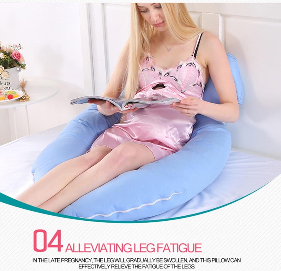 Bedding Pillows U Shape Pregnancy Pillow Full Body Maternity Pillow Comfort Sleeping Support Pillow For Pregnant Women Body _12_