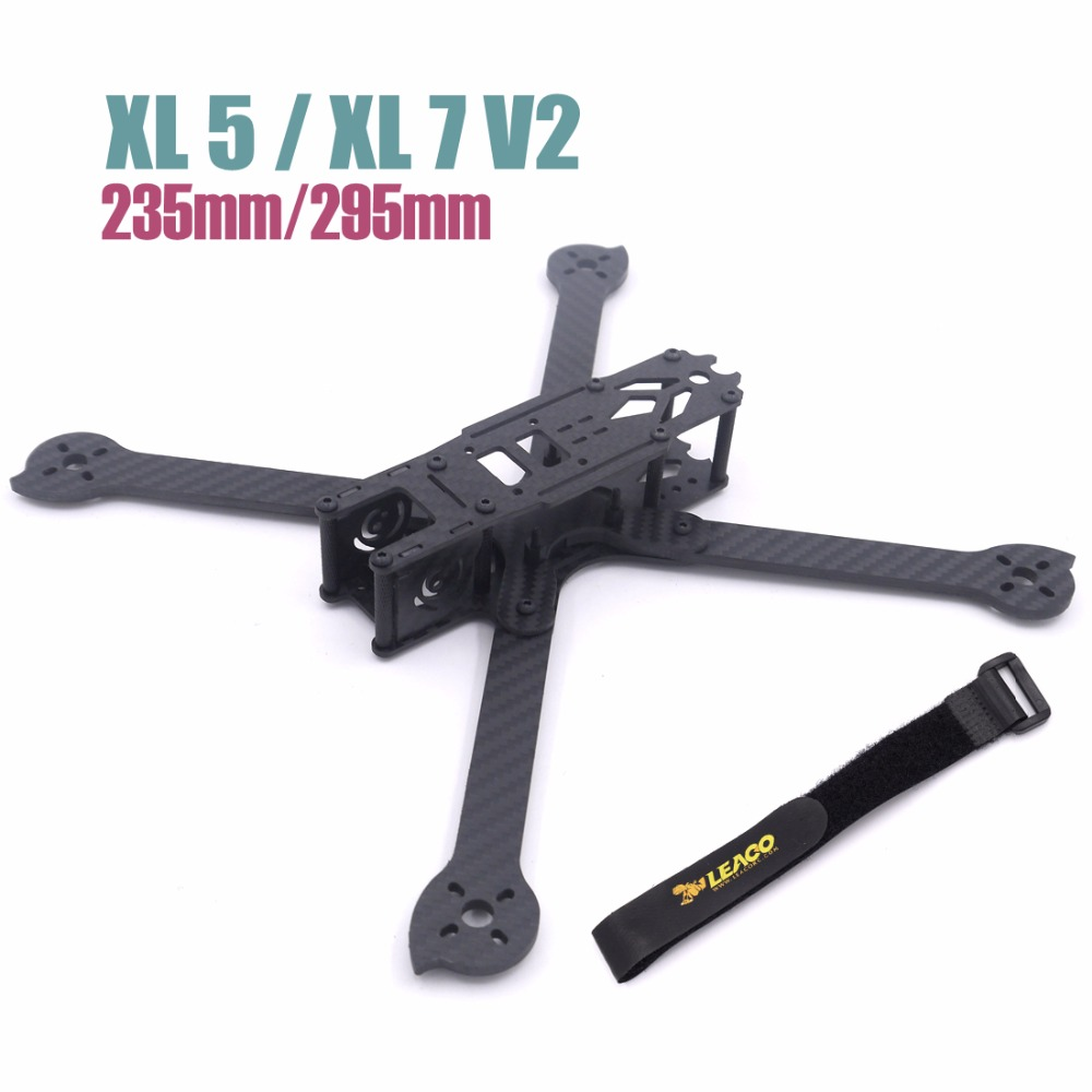 3K Full Carbon Fiber XL5 V2 235mm XL7 295mmTrue X 5 7 inch FPV Freestyle Frame w/ 4mm arms Racing kit quadcopter Pakistan