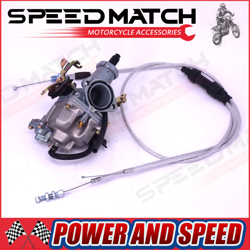 Hight Performance KEIHIN PZ30 30mm Carburetor Power Jet Accelerating Pump +Dual Cable IRBIS For 200cc 250cc Motorcycle Dirt bike image