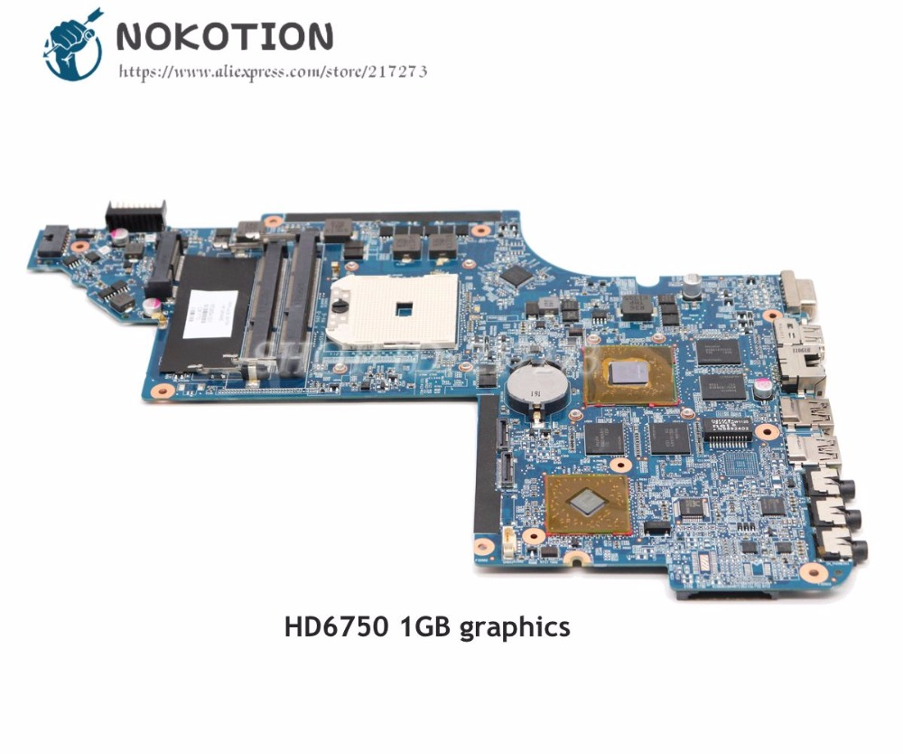 NOKOTION 650854-001 Scheda Madre Del Computer Portatile Per Hp Pavilion DV6 DV6-6000 Scheda madre Socket fs1 DDR3 HD6750 1 GB Video cartaNOKOTION 650854-001 Scheda Madre Del Computer Portatile Per Hp Pavilion DV6 DV6-6000 Scheda madre Socket fs1 DDR3 HD6750 1 GB Video carta