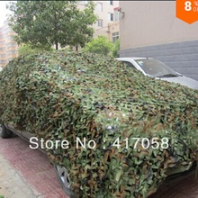 Free Shipping car hood 3*4 Shade Sails outdoor& Enclosure Nets Hunting Camping Military Camo Net Woodlands Leaves Cover Awning