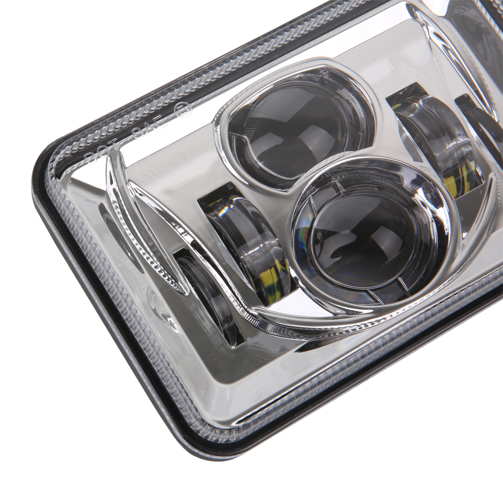 Truck Headlights 4x6inch Led 12v 24v H4 Plugplay Headlamp Wire Harness For Freightliner Product 3 2