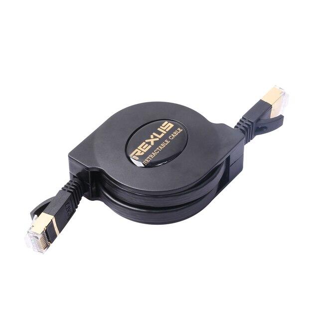 1.5m 5FT Grand Cat 7 10 Gigabit Ethernet Cable Flat Retractable ...