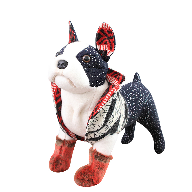 1pc Simulation mode chien nouveauté réaliste chien en Peluche réaliste Animal en Peluche Peluche chien Peluche chiot poupée pour les enfants