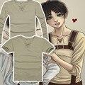 Anime ataque em titan cosplay shingeki não kyojin anime t-shirt tee camiseta