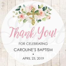 100 шт., 4-7 см, индивидуальный заказ, крещение спасибо за наклейки, Девочки Крещение за наклейки, 1-е Святое Причастие