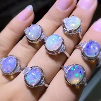 Perfect fire color opal ring wholesale beautiful silver ring 1piece