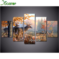 YOGOTOP Diamond Painting Cross Stitch Kit Diamond Embroidery Crafts Needlework Full 5D Diamond Mosaic Sets Deer