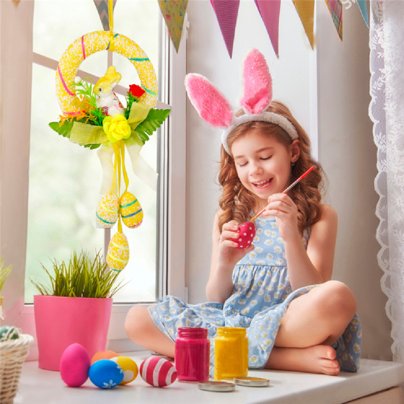 Table & Sofa Linens Home & Garden Hot Sale 2018 Festive Easter Egg Cotton Linen Pillow Case Sofa Waist Throw Cushion Cover Zy405