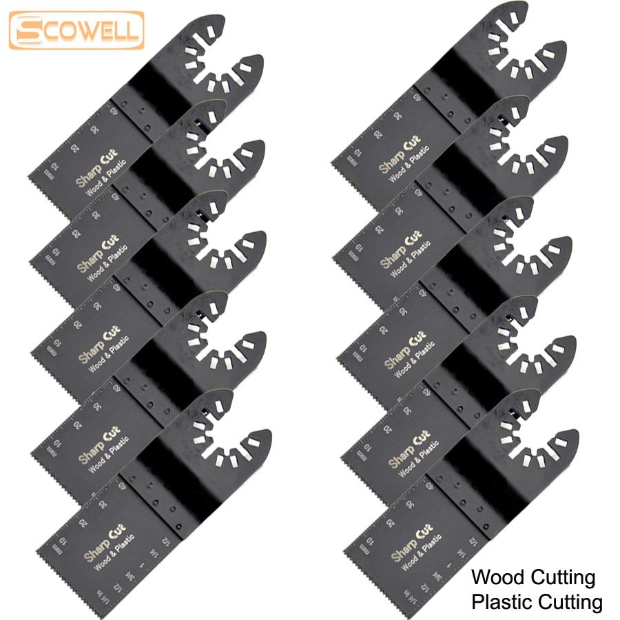 30% RABATT 100 st. 34mm Standard oscillerande multiverktygsågblad passande för Multimaster elverktyg Fein, Dremel, Bosch Jigsaw