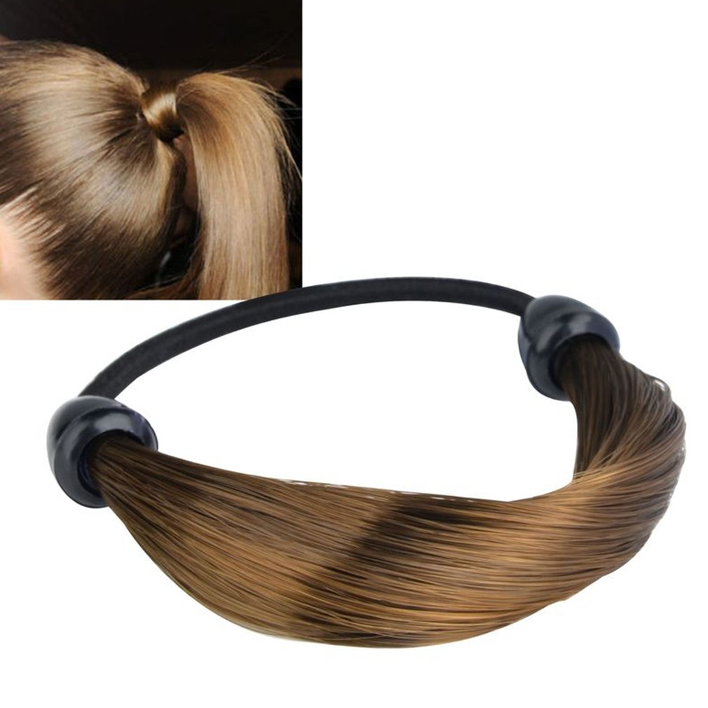 Drop Shipping Women Straight/Braid Wig Elastic Hair Band Rope Scrunchie Ponytail Holder Promotion Hot 2018 For Girls Women fishtail braid with hair accessory