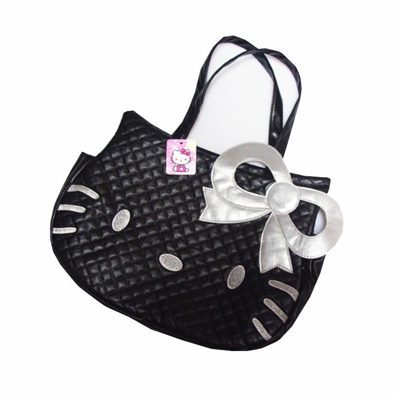 Las mujeres bolso de la PU Material de Hola Kitty Lindo bolso del organizador de viajes arco dama hombro bolsa de accesorios productos