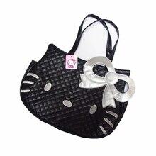 Женская сумка из ПУ материала hello kitty Милая дорожная сумка-Органайзер с бантом Дамская сумка на плечо аксессуары для товары девочек товары