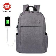 """2017 nuevo diseño tigernu anti-ladrón de carga usb 15.6 """"Calcular portátil mochila para mujeres de escuela Del Morral masculino para Los Hombres Mochila"""