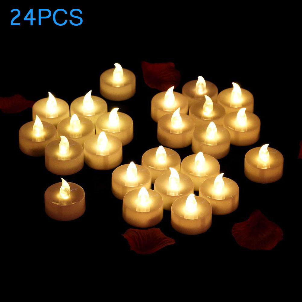 24Pcs LED Flame Flickering Candles Light for Halloween House Wedding Anniversary Party Decor CLH@8