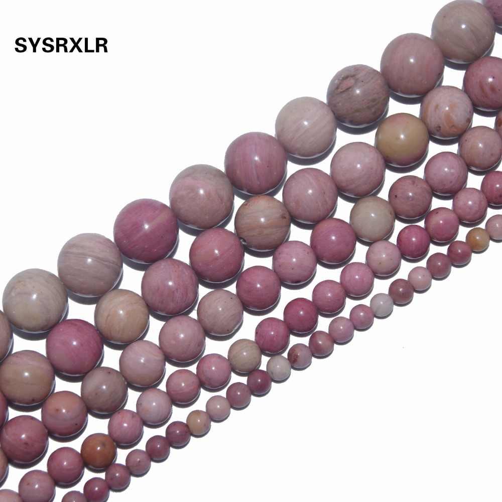 Cuenta de piedra natural rosa cuarzo amatistas Agates lapislázuli Ojo de Tigre turquesa para fabricación de joyería DIY pulsera 4/6/8/10/12 MM
