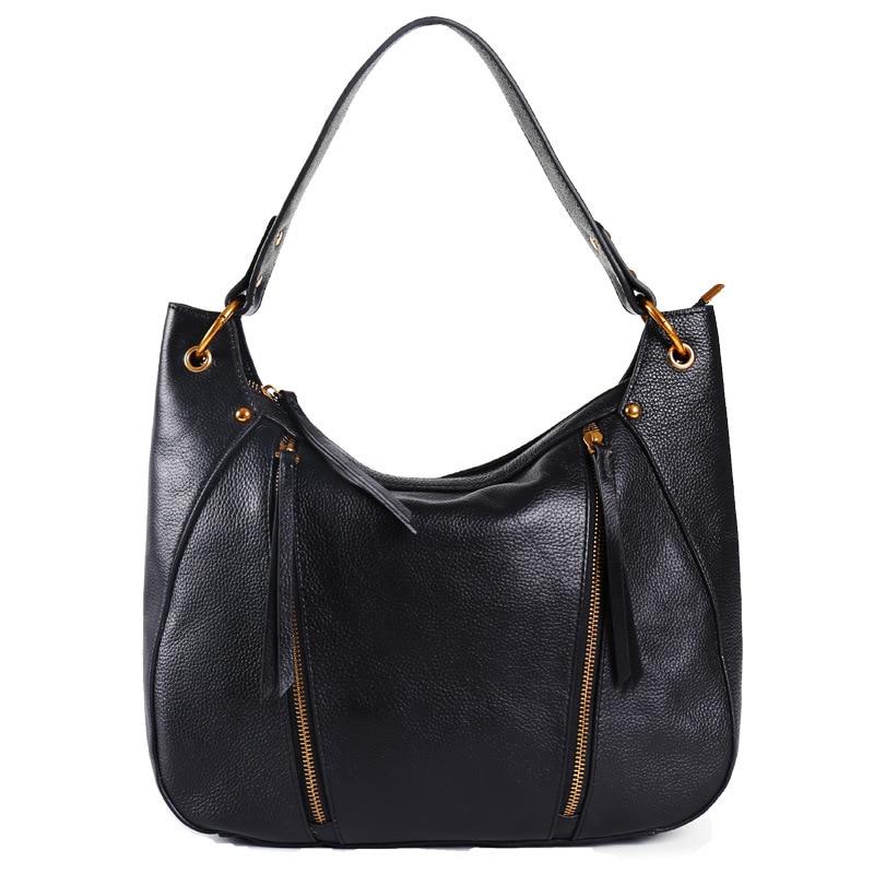 Womens Genuine Leather Handbags Luxury Patchwork Shoulder Bag For Women Fashion Cowhide Hobos Ladies Tote Bags Bolsas FemininaWomens Genuine Leather Handbags Luxury Patchwork Shoulder Bag For Women Fashion Cowhide Hobos Ladies Tote Bags Bolsas Feminina