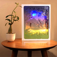 Bosheng Parents And Baby Under The Stars With Play 3D Papercut Light Boxes For Mother S