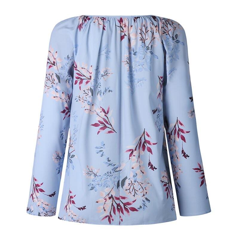 Autumn Casual Shirt Women Clothes Streetwear Fashion Print Drawstring V-Neck Long Sleeve Sexy Ladies Tops Vetement Femme 2018 (7)
