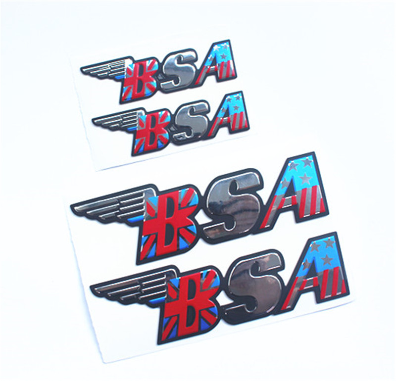 BSA Adesivos Moto Adesivos Do Tanque de Combustível Adesivo Dispensa Protetor Decalques Adesivo de Carro Moto Universal Moto BSA
