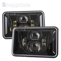 4x6 Inch Rectangular Projector LED Headlights Sealed For Peterbilt Kenworth T800 T400 T600 W900B L Trucks