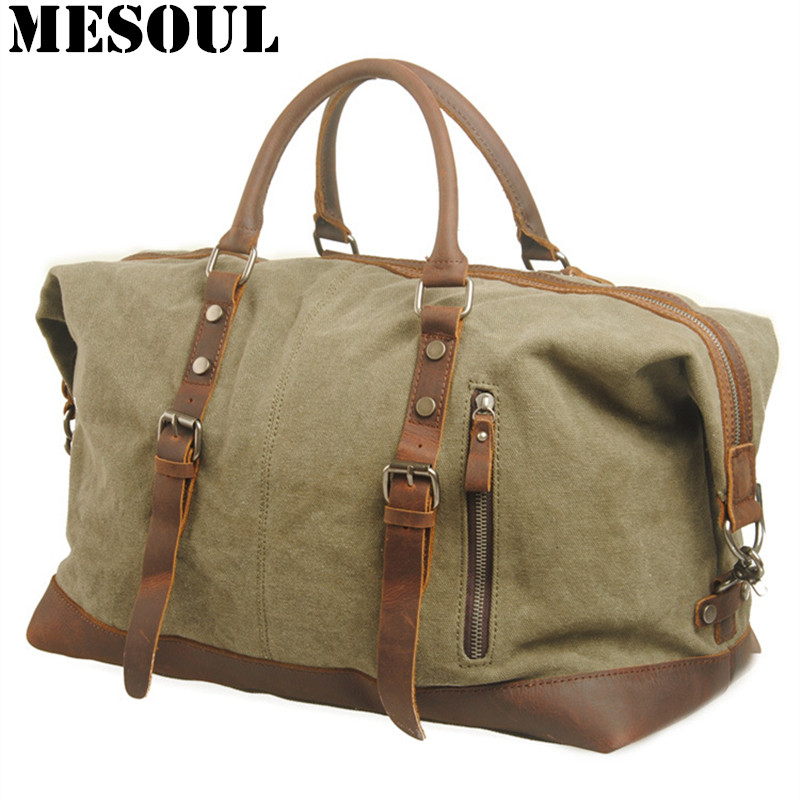Men Travel Bags Military Canvas Duffle bag Large Capacity Bag Luggage  Weekend Bag Vintage Designer Carry 5b24c4a61c8ad