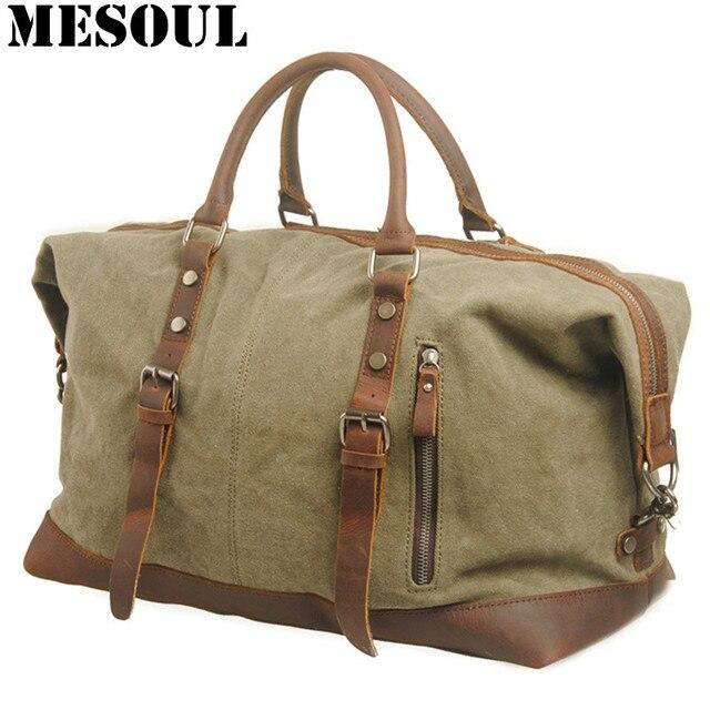 3e3af7216e6a3 Mężczyźni torby podróżne wojskowy płócienna torba podróżna torba na duże  torby o dużej pojemności bagażu torba ...