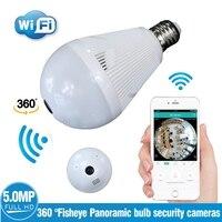 LED ampul ışık 360 Derece 720 P WiFi Panoramik Kamera Akıllı Ev LED Lamba kablosuz ip kamera 3D VR Balıkgözü Kamera Ev Güvenlik