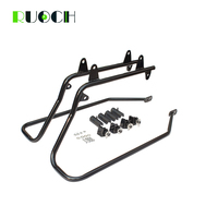 Motorcycle Saddlebag Saddle Bag Conversion Brackets Mount For Harley Davidson Softail W/ Touring Saddlebags 1986 2013