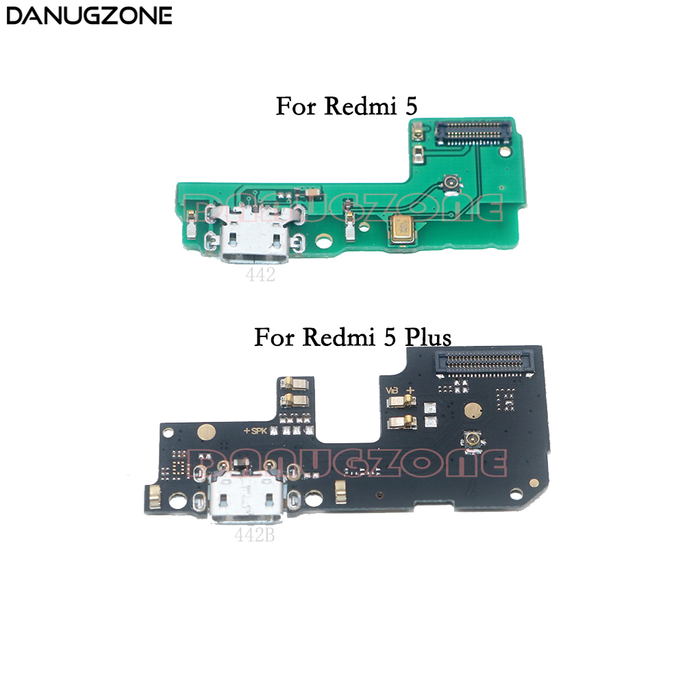 USB Charging Dock Jack Plug Socket Port Connector Charge Board Flex Cable For Xiaomi Redmi 5 Plus