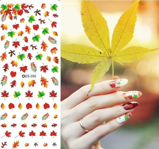 Diy Nail sticker water decals stick Japanese nail art stickers nail ...