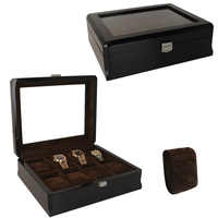 Luxury 8 Grids Handmade Wood Watch Box Wood Clock Box Watch Case Time Box for Watch Holding