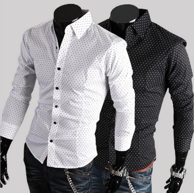 9964e749f4f8f Camisa Top Fashion Full Camisas 2016 Hot Men Shirt Cotton Business Casual  Brand Long Sleeve Male