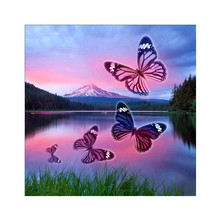 DIY 5D Diamond Waterscape Animal Butterfly Cross Stitch Mosaic Diamond Embroidery Rhinestone Decoration Gift стоимость