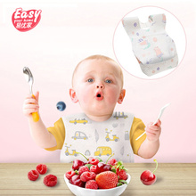 20Pcs/lot Disposable Waterproof Non-Woven Baby Bibs Cartoon Feeding Saliva Apron Paper