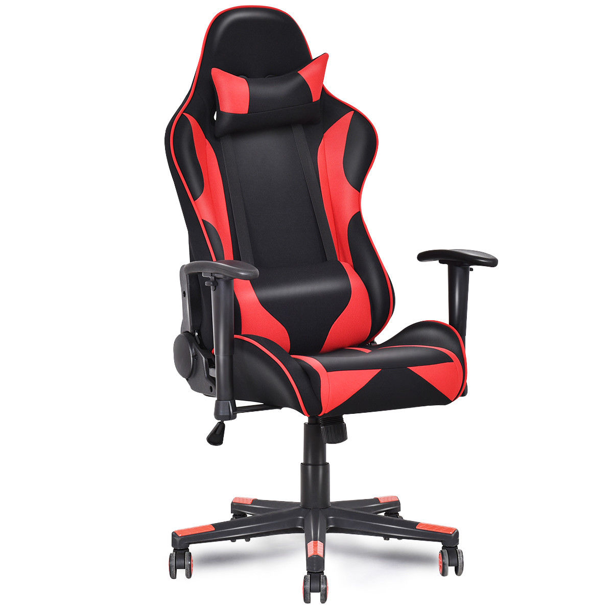 Giantex Racing Style High Back Recliner Gaming Chair Modern Mesh Swivel Computer Office Chair Ergonomic Office Furniture HW55608 240337 ergonomic chair quality pu wheel household office chair computer chair 3d thick cushion high breathable mesh