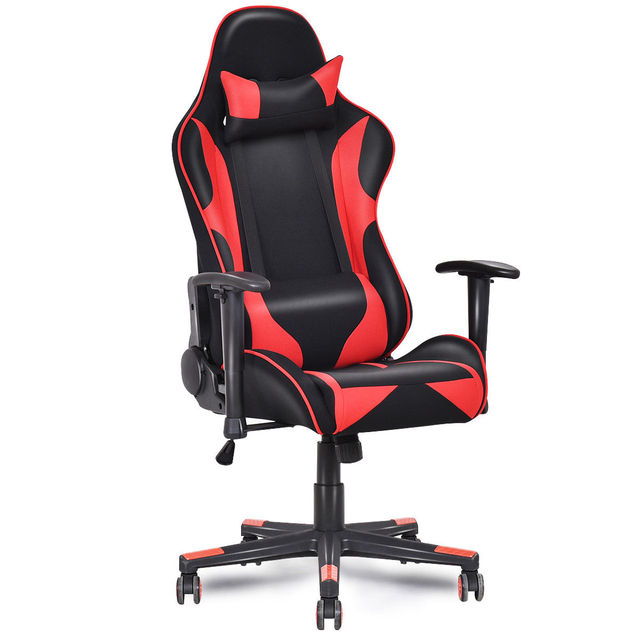 Giantex Racing Style High Back Recliner Gaming Chair Modern Mesh Swivel Computer Office Ergonomic