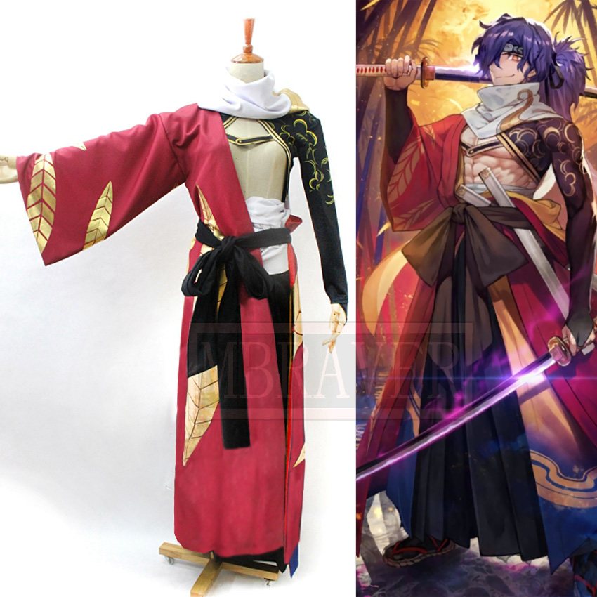 Fate/Grand Order FGO Okada Izo Cosplay Costume Christmas Party Halloween Uniform Outfit Cosplay Costume Customize Any Size