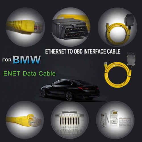 ใหม่ Ethernet OBD สำหรับ BMW F Series ENET Cable E-SYS ICOM 2 Coding ไม่มี CD ESYS ICOM Coding Diagnostic เครื่องมือจัดส่งฟรี