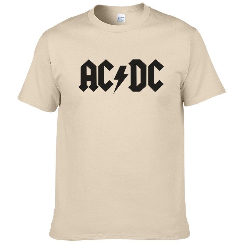 2018 Rock band AC DC t-shirt hommes 2017 d'été 100% coton marque de mode ACDC A25