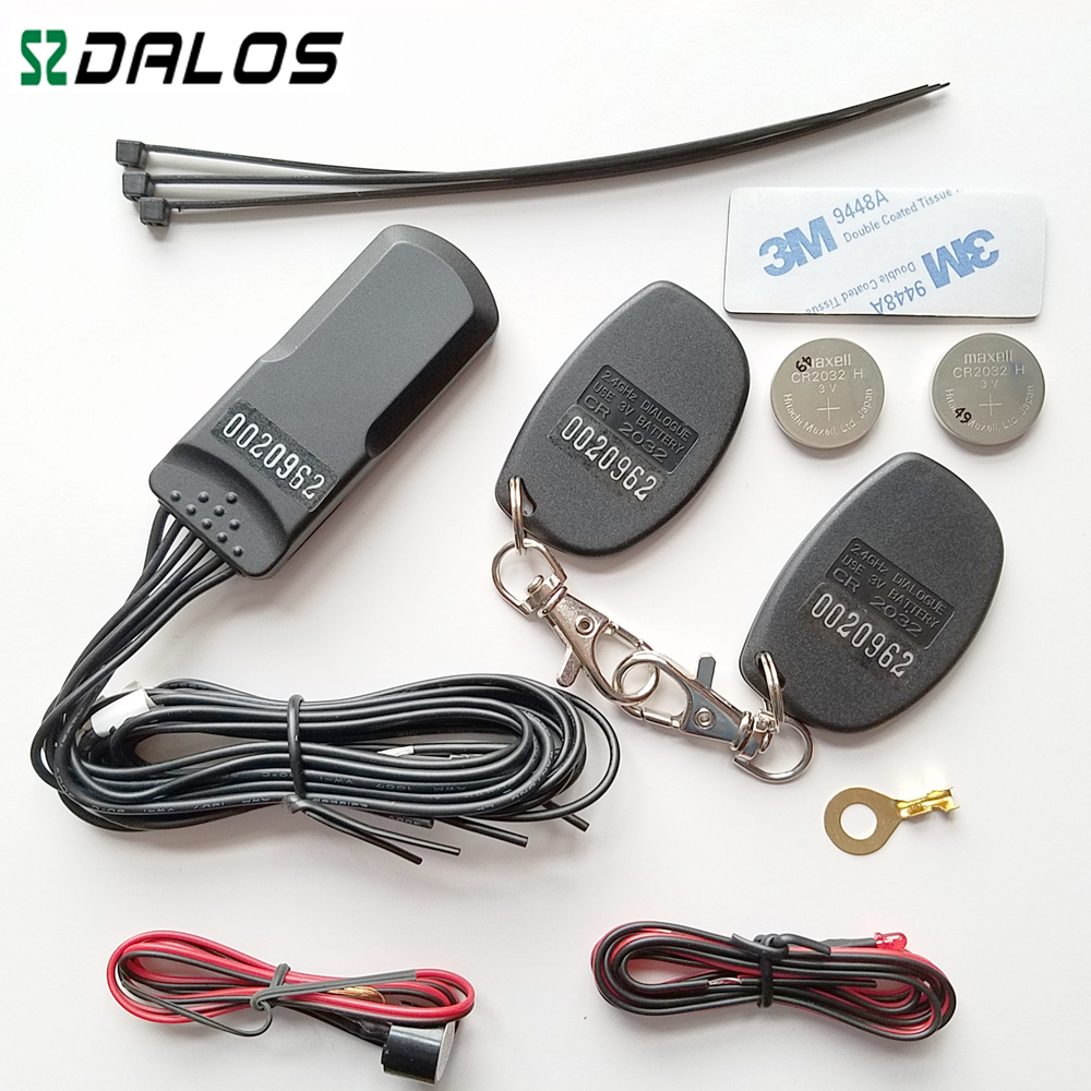 Alarme de voiture alarme automatique RFID 2.4 GHz système d'immobilisation de voiture avec capteur d'accéléromètre de haute qualité